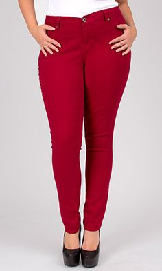 women's red jeans skinny - Jean Yu Beauty