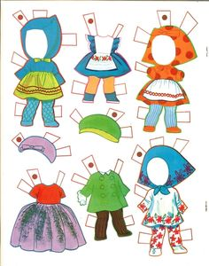 LIDDLE KIDDLES | 1968 Whitman | 6 STORYBOOK Paper Dolls and Scenes to Press Out