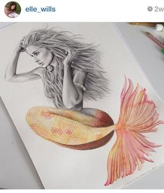 Elle wills mermaid drawing