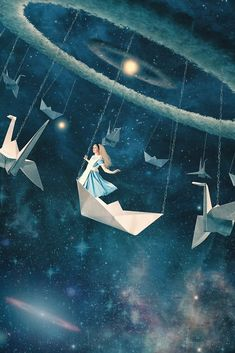 My Favourite Swing Ride. Photographic Illustrations of Digital Surrealism. By Paula Belle Flores.