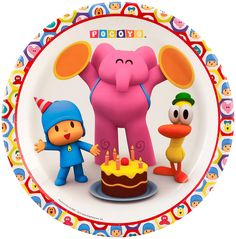 Pocoyo Party Supplies - Dinner Plates Package includes paper dinner plates to match your party theme. This is an officially licensed Pocoyo product. Party In A Box, Party Kit, Party Packs, 1st Birthday Parties, Girl Birthday, Birthday Stuff, Birthday Ideas, Fun Party Themes, Party Ideas