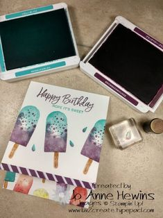Ice Cream Treats, Stamping Up Cards, Paper Pumpkin, Handmade Crafts, Note Cards, Making Ideas, Cardmaking, Birthday Cards, Mini