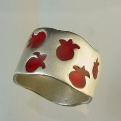Pomegranate ring silver ring Made To Order ring by Avinoo