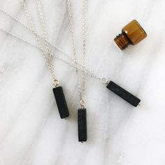 Vertical Lava Bar Minimalist Diffuser Necklace by LavaEssentials Essential Oil Jewelry, Essential Oil Diffuser, Essential Oils, Aromatherapy Jewelry, Diffuser Necklace, Bar Necklace, Necklaces, Gold Filled Chain, Pure Products