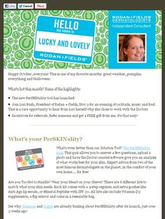 Check out my October Rodan + Fields newsletter to see how you can earn FREE products from me!