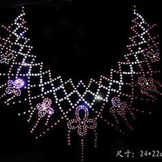 Fashion  Flower design hotfix rhinestone,heat transfer design iron on rhinestone motif,embellishment for the garment 1lot = 5pcs