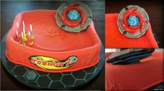 So much fun doing this big beyblade cake!