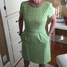 Beautiful Boden dress Gorgeous and such high quality workmanship!! This brand is from Britain and is super nice! The lining is so well made that it could almost be a dress on its own!! Pockets and a side zipper. ❤️❤️❤️ Boden Dresses Mini