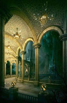 A cavernous hall.