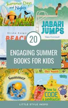 We've rounded up 20 fun and engaging summer picture books for kids. These are the perfect summer books for toddlers, summer books for preschoolers, and summer books for kindergarteners. They'll love reading different ocean books, mermaid books, books about summer, and more! Keep on reading to see the best summer themed books for kids that we found. #summer #kidsbooks #booksforkids #toddlerbooks #summer Best Children Books, Toddler Books, Childrens Books, Creative Activities For Toddlers, Beach Activities, Kindergarten Books, Preschool Books, Teaching Kids, Kids Learning