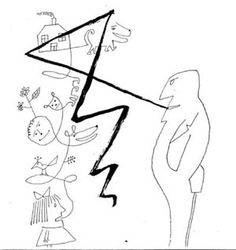 """Don Mangus' """"It Only Hurts When I Smirk."""": Saul Steinberg"""