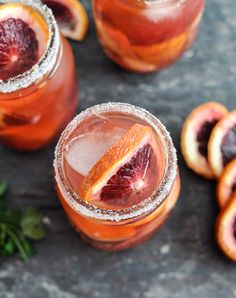 Blood Orange Sangria: The perfect grown-up Halloween cocktail for your next party.
