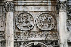 Detail from the Ancient Roman Arch of Constantine, 315 AD.