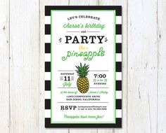 Party Like A Pineapple Printable Birthday by ihearttoparty