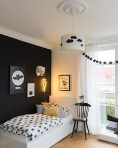 """""""What a cute boy& room with Eva and me!- """"Was für ein süßes Jungen-Zimmer bei Eva und ich! What a cute boy& room with Eva and me! What a cute boy& room with Eva and me! The post What a cute boy room with Eva and me! appeared first on room ideas. Kids Bedroom, Bedroom Decor, Silver Pillows, Tumblr Rooms, Diy Bed, Black Walls, Home Living, New Room, Decoration"""