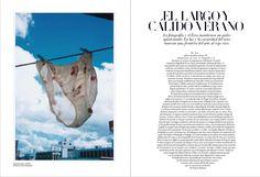 Magazine layout, Harper's Bazaar, Spain July 2013