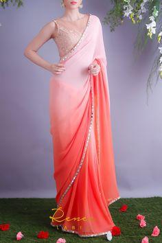 Chiffon Saree Party Wear, Fancy Sarees Party Wear, Saree Designs Party Wear, Designer Party Wear Dresses, Saree Blouse Designs, New Saree Designs, Lehenga Saree Design, Simple Saree Designs, Simple Sarees
