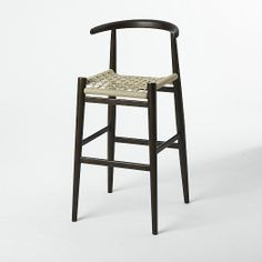 John Vogel Bar + Counter Stool - Flax/Chocolate | west elm