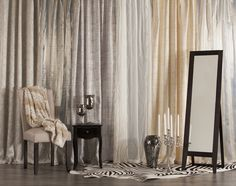 Every room needs a mirror. A stylish mirror adds the perfect finishing touch to a newly decorated room – and it doesn't need to cost an arm and a leg. Drapery, Curtains, Colours, Mirror, Room, Store, Home Decor, Bedroom, Blinds