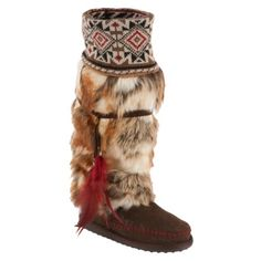 Muk Luks® Lola Women's Tall Faux Fur Boot With Knit Cuff Brown