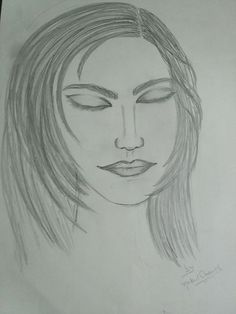 Girl Sketch By Nakul Anand
