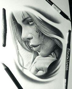 Girl Face Tattoo, Girl Face Drawing, Girl Tattoos, Dream Drawing, Tattoo Designs, Tattoo Design Drawings, Tattoo Sketches, Ozzy Tattoo, Chicanas Tattoo