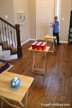 Awesome Game Ideas for a Dude Perfect Style Birthday Party – Frugal Fun For Boys and Girls – Party Ideas Teen Group Games, Tween Party Games, Dinner Party Games, Games For Boys, Halloween Party Games, Fun Games, Teen Boy Party, Pizza Party, Backyard Birthday Parties