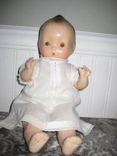 """Baby Dolls--Vintage Horsman Jeanie doll - composition with cloth body -13"""""""
