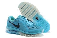 Nike Air Max 2014 LG Lysblå Sort Herresko