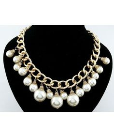 Delicate Pearls Chain Exaggerate Pendants Necklaces High Quality Dita August