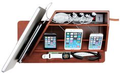 GreatUsefulStuff - All-in-One Charging Station in Premium Leather, $200.00 (http://www.greatusefulstuff.com/tech-storage-and-organization/all-in-one-charging-station-in-premium-leather/)