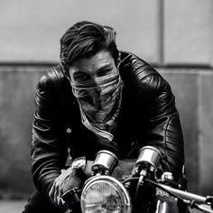 inspiration biker egde black+and+grey moto style mens leather home jbrand j+brand Rockers, Photo Pour Instagram, Harley Davidson, Bobber Custom, Biker Boys, Motorcycle Photography, Ewan Mcgregor, Biker Style, Vintage Motorcycles
