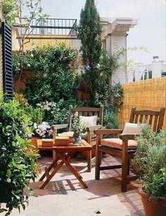 Una terraza acogedora y soleada