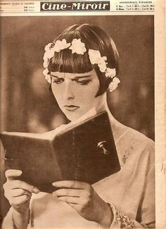 "Louise Brooks, avid reader. - in this case reading her diary in ""diary of a lost girl"""