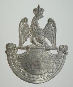 PLAQUE DE SHAKO DE LA GARDE NATIONALE, MODÈLE 1812, PREMIER EMPIRE.