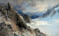The Athenaeum - Snow Scene on the Col d'Orny, Valais, Switzerland (Edward Theodore Compton - )