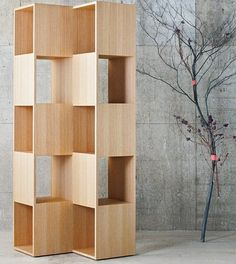 Wooden storage unit SPLINTER by Conde House Europe #wood