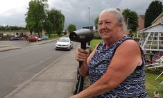 Grandmother tricks speeding drivers by pointing her HAIRDRYER at them #DailyMail