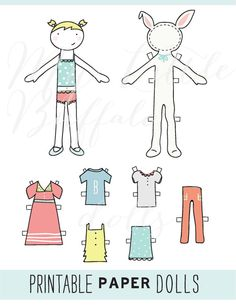 Custom Printable Paper Dolls by mylittlebuffalo on Etsy, $7.00