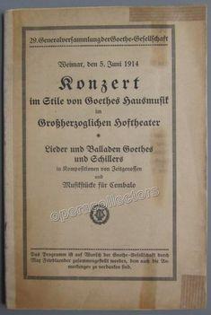 Landowska, Wanda - Program 1914