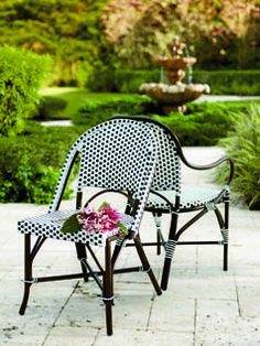 With the Parisian bistro as a muse, this collection is familiar and fresh. | Fresh + Fab Outdoor Pad