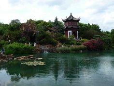 Chinese garden inside the Botanical Gardens (Montreal, Cananda)