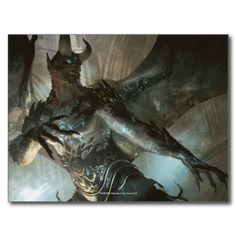#Magic: The Gathering - #Rune-Scarred #Demon #postcard #zazzle #creatures #monsters #EvilCreatures