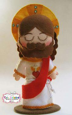 Catholic Crafts, Catholic Kids, Catholic Saints, Felt Diy, Felt Crafts, Baby Security Blanket, Santa Doll, Christmas Nativity, Diy Doll