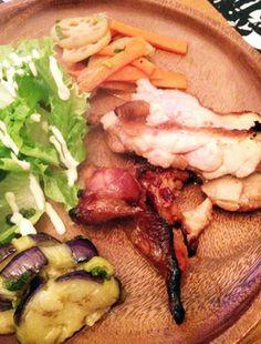 鶏もも味噌漬けグリル・茄子の和風マリネ・レンコンきんぴら|レシピブログ