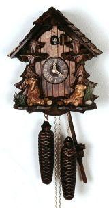 Relógio de Cuco <br> Black Forest House, ursos