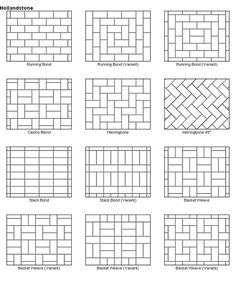 Paver patio designs. Or quilt patterns. I've heard it both ways.