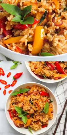 This vegan Thai basil fried rice will feed 4 people. It only takes about 10 minutes to fry in a wok, so it's a quick meal for your entire family. #ministryofcurry #vegan #healthy Curry Recipes, Rice Recipes, Indian Food Recipes, Vegetarian Recipes, Ethnic Recipes, Instant Pot Dinner Recipes, Delicious Dinner Recipes, Recipe Videos, Food Videos