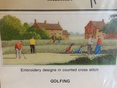 Counted Cross Stitch Chart   -  GOLFING  -   A  Heritage Stitchcraft publication. by LousAtelier on Etsy