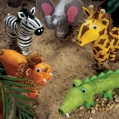 The Great Soda Bottle Safari.  Before (or after) you visit the zoo, make some animals using empty liter pop bottles!  A great recycling craft!